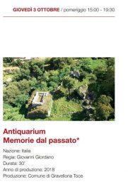 Antiquarium - Giovedì 3 Ottobre - 15:00 -19:30